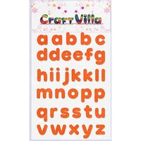 Craft Villa Small Card Small Alphabet Glitter Sticker