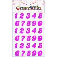 Craft Villa Small Card Numeric Glitter Sticker