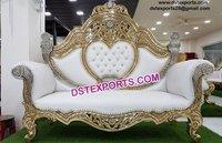 Beautiful Wedding Brass Metal Sofa