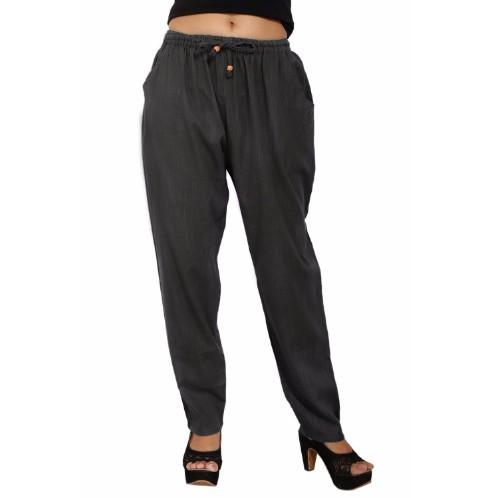 Cotton Plain Casual Wear Trouser