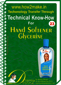 Hand Softener Glycerin Technical KnowHow Report