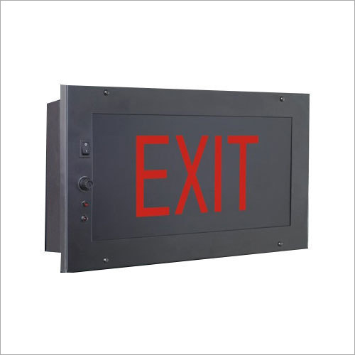 Auditorium Recessed Exit Light