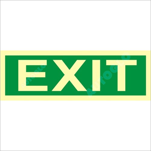 Photoluminescent Exit Signage
