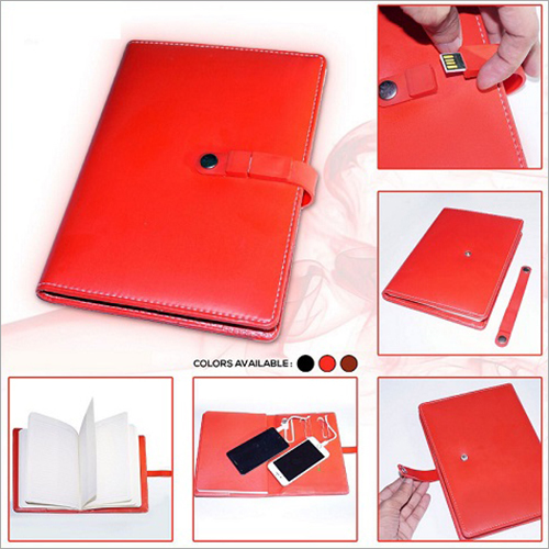 Note Book With Pen Drive And Power Bank