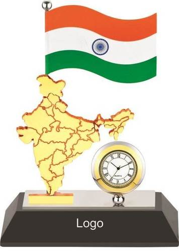 INDIAN FLAG TABLE CLOCK