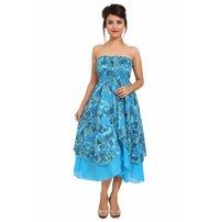 Cotton Printed Off Shoulder Dress