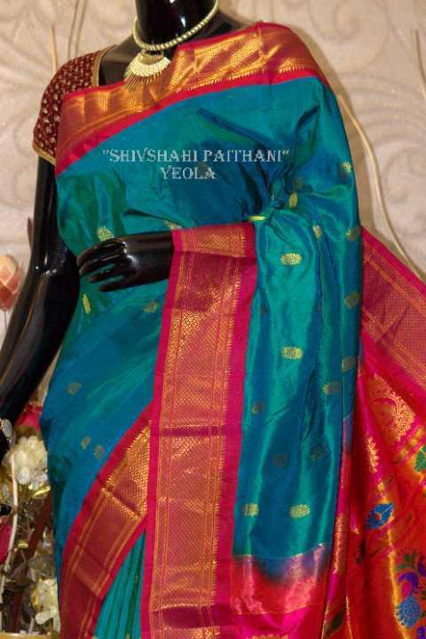Blue Semi Paithani