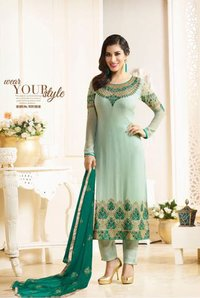 karma azaa catalog sophie georgette embroidered