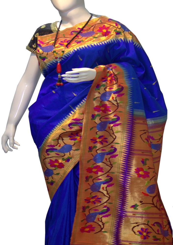 Brocade Blue Paithani