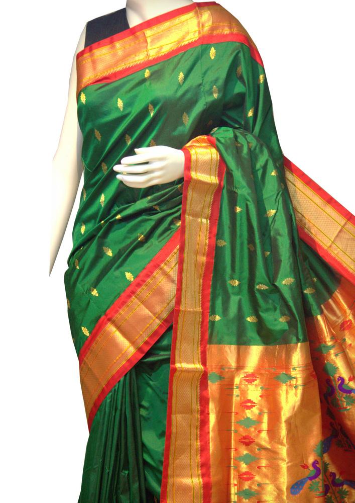 Green Maharani Paithani