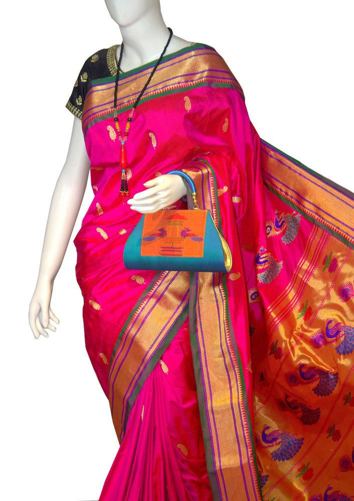 Pink Fancy Pallu Yeola Paithani