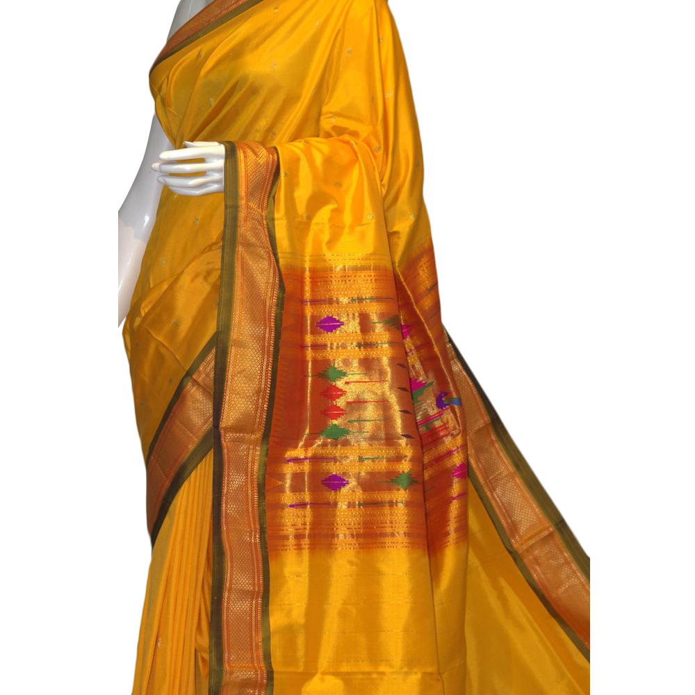 Yellow Paithani