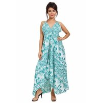 Rayon Elephant Printed Long Dress