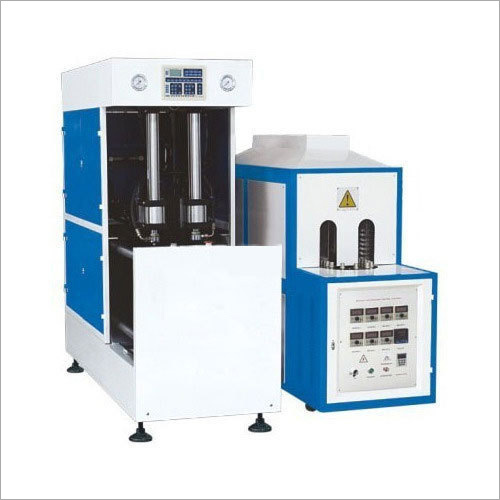 2 cavity semi automatic blow moulding machine