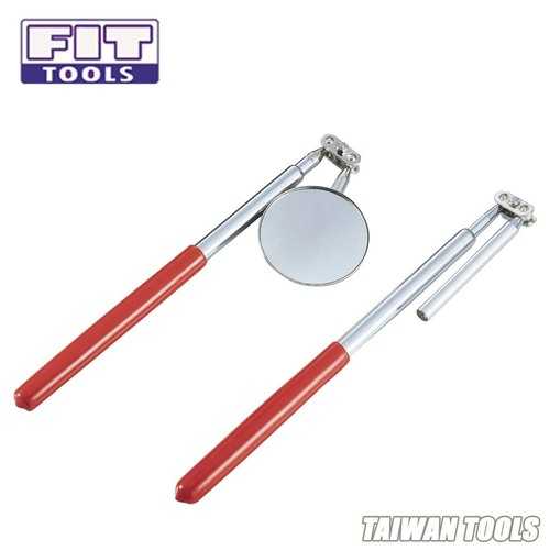 FIT TOOLS Made in Taiwan Extendable Telescopic Magnetic Pick-up and Round Inspection Mirror