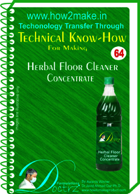 Herbal Floor Cleaner Concentrate Technical knowHow