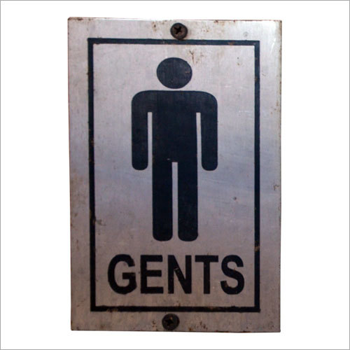 Steel Toilet Sign Plate