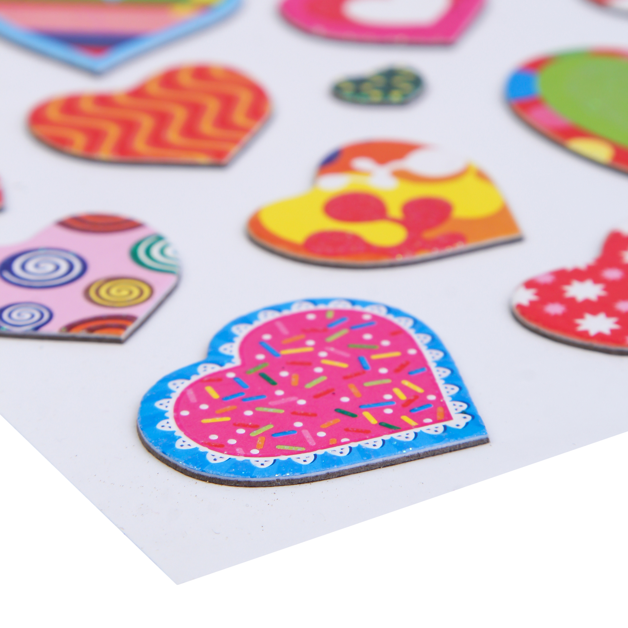Craft Villa Handmade Heart Card Board Sticker