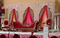 Embroidered Arch Type Backdrop Set