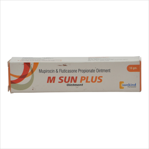 M Sun Plus Ointment Mupirocin Fluticasone Propionate Application For External Use Only Price 100 Inr Piece Id C4377450