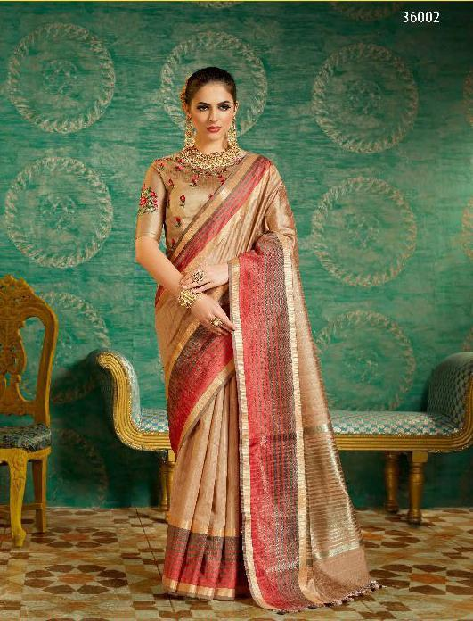 Handloom cotton silk saree heavy work blouse