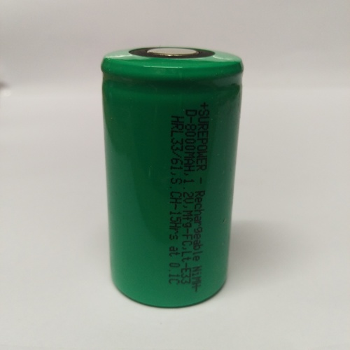 Surepower 1.2V, 8000mAH Ni-Mh Battery