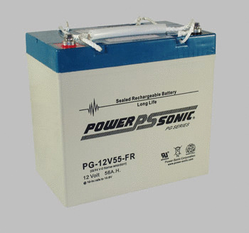 Powersonic 12V, 55AH Sealed Lead Acid Battery