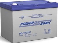 Powersonic 12V, 75AH Sealed Lead Acid Battery