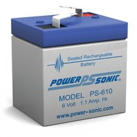 Powersonic 6V, 1AH Sealed Lead Acid Battery