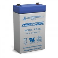 Powersonic 6V, 3.2AH Sealed Lead Acid Battery