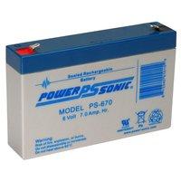 Powersonic 6V, 7AH Sealed Lead Acid Battery