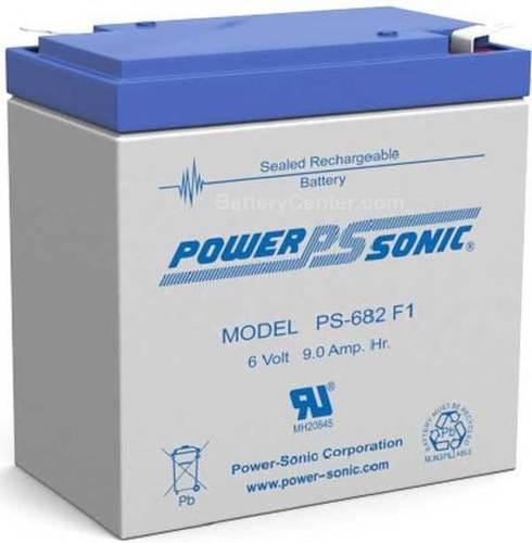 Powersonic 6V, 8.2AH Sealed Lead Acid Battery