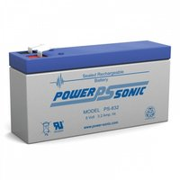 Powersonic 8V, 3.2 AH Sealed Lead Acid Battery