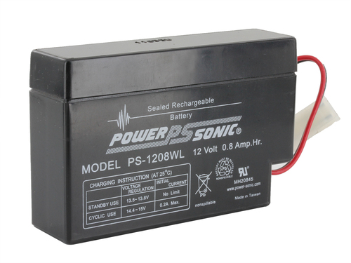 Powersonic 12V, 0.8AH Sealed Lead Acid Battery