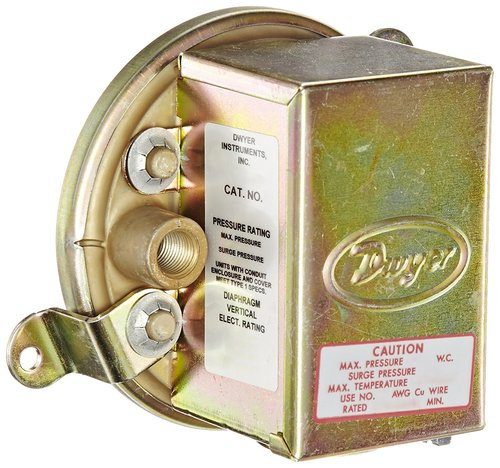 Dwyer 1910-10 Compact Low Differential Pressure Switch, RANGE 3.0-11.75