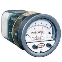 Dwyer 3002MRS Photohelic, Switch/Gauge 0 to 2 in W.C