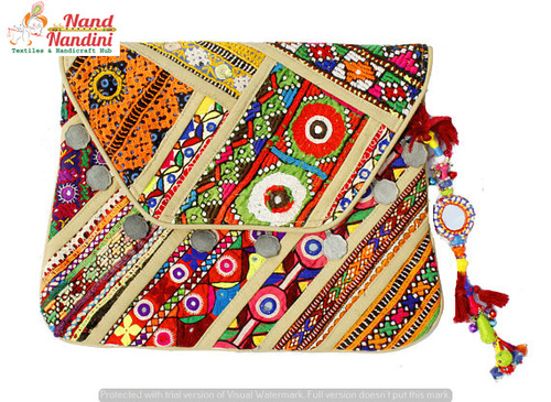 Banjara Tribal Clutch Bag Made Vintage Fabric