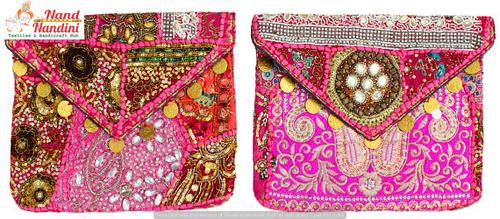 Design Vintage Banjara Clutch Bag Purse