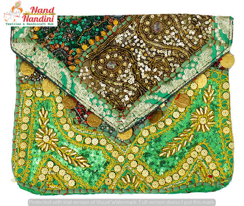 Beautiful Hand Embroidered Vintage Banjara Clutch