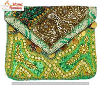 Beautiful Hand Embroidered Vintage Banjara Clutch