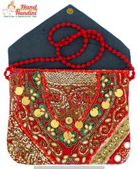 Vintage Bohemian Tribal Hand Embroidery Clutch