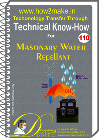 Masonary Water Repellant Technical Know-How Report