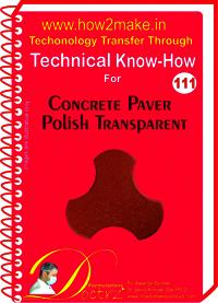 Concrete Paver Polish Transparent Technical Know-How Report