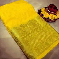 sethnic plain saree with zari border wholesale