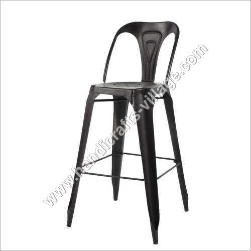 Black Metal Bar Chair