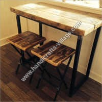 Canteen Metal Furniture With Wooden