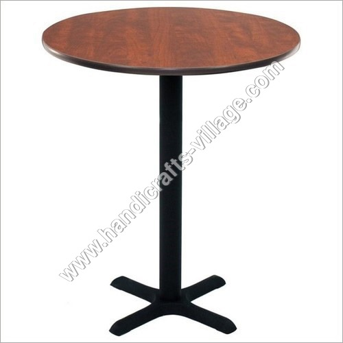 Metal Dining Furniture Table With Wooden