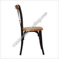 Tolix Dining Chair With Wooden Seat