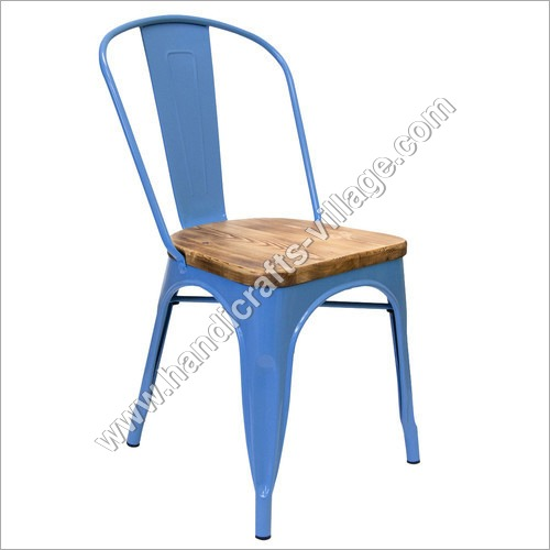 Light Blue Color Metal Chair