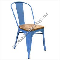 Light Blue Color Metal Chair